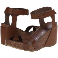 ca32015cda Blowfish Hippy Women's Sling Back Shoes, Brown ($41) ❤ liked on Polyvore  featuring