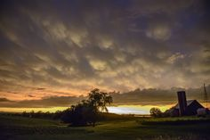 Afterglow of a storm in Iowa.