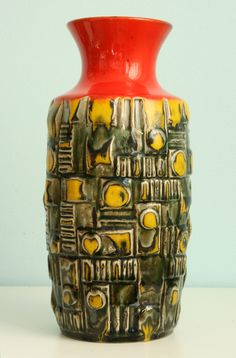 Übelacker vase, height: 30 cm. WGP West German Pottery.