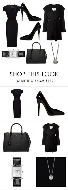 """Lavish in style"" by ameliayanita on Polyvore featuring Roland Mouret, Gucci, Prada, MaxMara, Hermès and Forevermark"