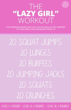 Girl Workout - 6 Amazing Fat Burning Moves You Can Do Anywhere! Lazy Girl Workout - 6 Amazing Fat Burning Moves You Can Do Anywhere!Lazy Girl Workout - 6 Amazing Fat Burning Moves You Can Do Anywhere! Fitness Workouts, Fitness Motivation, Fit Girl Motivation, Fun Workouts, At Home Workouts, Short Workouts, Quick Workout At Home, Quick Morning Workout, Weekend Workout