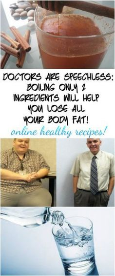 DOCTORS ARE SPEECHLESS: BOILING ONLY 2 INGREDIENTS WILL HELP YOU LOSE ALL YOUR BODY FAT! #fatlossdiet Quick Weight Loss Tips, Weight Loss Help, How To Lose Weight Fast, Losing Weight, Reduce Weight, Lose Fat, Burn Belly Fat Fast, Reduce Belly Fat, Best Diet Drinks