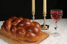 Among the Jewish traditions that set apart the Shabbat as a special time are the lighting of the Sabbath candles, the chanting of the Kiddush over wine, and the blessing over the special bread called challah. Kosher Recipes, Cooking Recipes, Cooking Beef, Shabbat Dinner, Jewish Shabbat, Shabbat Prayers, Kabbalat Shabbat, Shabbat Candles, Jewish Recipes