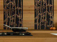 Bambus Mal Anders | Das Wandtattoo Im Bambus Look Wird Zur Kreativen  Küchendekoration. Mit