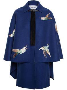 Valentino Bird Embroidered Cape +
