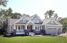 Craftsman With Multiple Garage Options - 23522JD | Bungalow, Craftsman, Northwest, Photo Gallery, 1st Floor Master Suite, Butler Walk-in Pantry, CAD Available, Den-Office-Library-Study, PDF | Architectural Designs