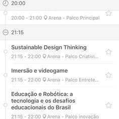 Uhhuuu estamos na #agenda do #app do @campuspartybra #palco #criatividade  Uhhuu está chegando o dia é amanhã correria geral #ultimosdetalhes #campusparty Brasil 2017 O maior processo de #desenvolvimento #social #economico e tecnologico do mundo nas áreas de #inovação #criatividade  Começa dia 31/01 ;) #fiqueligado  O importante mesmo é #comunicar o seu conhecimento para gerar #desenvolvimentosustentavel Ingressos no ar online no site do @campuspartybra #campusparty2017 7 temas selecionados…