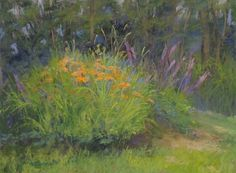 "Summer Garden by Kathy McDonnell Pastel ~ 9"" x 12"""