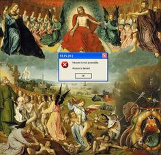 'Heaven is not Accessable' 'Access Denied'   nastya nudnik adds emotion to paintings with social media symbols
