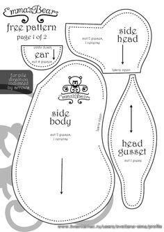 Free Memory Bear Pattern To Print - - Yahoo Image Search Results Teddy Bear Patterns Free, Teddy Bear Sewing Pattern, Plush Pattern, Free Pattern, Animal Sewing Patterns, Sewing Patterns Free, Doll Patterns, Sewing Stuffed Animals, Stuffed Animal Patterns
