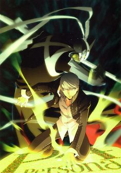 View an image titled 'Hero & Izanagi Art' in our Shin Megami Tensei: Persona 4 art gallery featuring official character designs, concept art, and promo pictures. Game Character Design, Character Art, Persona 4 Wallpaper, Yu Narukami, Shin Megami Tensei Persona, Anime Expo, Video Game Art, Video Games, Persona 5