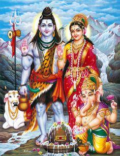 Shiva, Parvati and Ganesha with Nandi (via Dolls of India)
