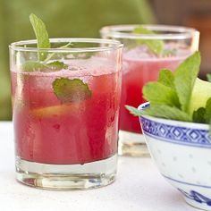Refreshing, sweet and delicious watermelon quencher is paired perfectly with a pool or BBQ.