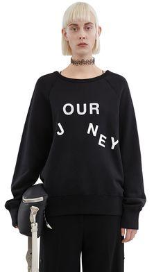 Acne Studios College slo jo black Slogan sweatshirt