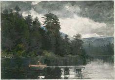 """Winslow Homer """"Adirondack Lake."""" Museum of Fine Arts, Boston."""