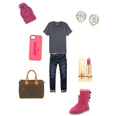 Untitled #31 by sneakerhead1500 on Polyvore featuring polyvore, fashion, style, Hollister Co., UGG Australia, Louis Vuitton, Elsa Peretti, NIKE, Impulse, Yves Saint Laurent and 21 Men