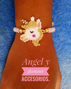 Pulsera tejida en miyuki.. #unicornio hermosa para las niñas. #angelyglamour ARTE 💯 %🇨🇴 #accesorios #moda #tendencias #diadelamujer #tejidos #miyuki