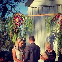 Sarah + Scott's wedding, Dundullimal Dubbo, April 2015, mink + me Handmade floral arch