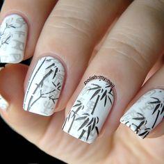 Bp l014 google pinterest bamboo nail art by ewlyn prinsesfo Gallery
