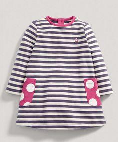 Girls Purple Striped Sweater Dress - New Arrivals - Mamas & Papas