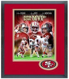 Jerry Rice, Steve Young and Joe Montana San Francisco 49ers Super Bowl MVP's