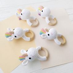 Crochet unicorn Baby rattle Personalized baby gift Natural stuffed animal Crochet teether ring Baby shower gift Valentines day baby toy Flamingo baby toy Crochet baby rattle Flamingo gift for girl Newborn Toys, Newborn Baby Gifts, Baby Girl Gifts, Baby Girl Newborn, Gifts For Girls, Baby Toys, Toys For Baby Girl, Girls Toys, Beautiful Baby Shower