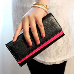 Cheap wallet clock, Buy Quality wallet passport directly from China wallet key Suppliers: Korean side of the Iron Lady purse new clamping zipper hand zero wallet multicolor printing hand bagUS $ 20.16/piece2014