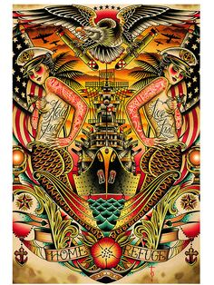 """Refuge"" Print by Black Market Art Company #InkedShop #Print #art #artwork"