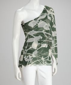 Take a look at this Judith Verde Asymmetrical Top by Sweet Pea by Stacy Frati on #zulily today!