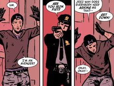 Hawkeye (2012) #8<< How can people confuse Barton with Danny??? HOW?!