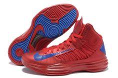 Nike 2013 Womens Lunar Hyperdunk University Red Game Royal Basketball Shoes