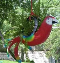 Recycled planters ~ Parrot from a tire - somebody help me figure out how to do this!