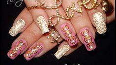 diy beautiful sexy easy nail art - YouTube