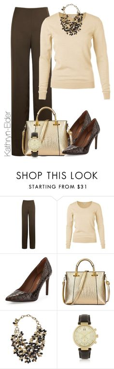 """""""Untitled #187"""" by kathryn-elder ❤ liked on Polyvore featuring Armani Collezioni, Donald J Pliner, Ashley Pittman and Michael Kors"""