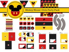 FREE Mickey Mouse Party Printables More
