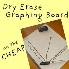 What a great idea from The Tutor House: Graphing Boards on the Cheap