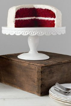 NYT Cooking: This is an old-fashioned icing, also called boiled-milk frosting. The results are as light as whipped cream but with much more character. It was the original icing for red velvet cake.