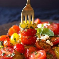 Delicious low carb high fat (LCHF) recipes for a Banting lifetsyle - the eating plan advocated by Prof. Banting Recipes, Feta Salad, Eating Plans, Fresh Herbs, Cherry Tomatoes, Quick Meals, Salad Recipes, Healthy Lifestyle, Food Photography