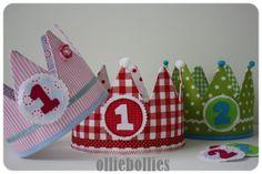 Lots of diy inspiration to make for kids...Verjaardagskroon | Olliebollies