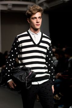 Daniele Alessandrini Fall Winter 2014 model Pedro Bertolini