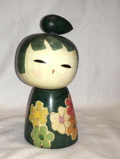 Kokeshi Japanese Wood Doll, Signed, Wal Crk Coll 0250 292   eBay
