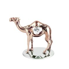 Camel's amazing ability to travel great distances, in unforgiving environments with its precious cargo, inspires us to face any tough challenges with no fear. This masterpiece from CRYSTOCRAFT make it a meaningful gift to your close friend for strong encouragement. Size 8 cm tall.
