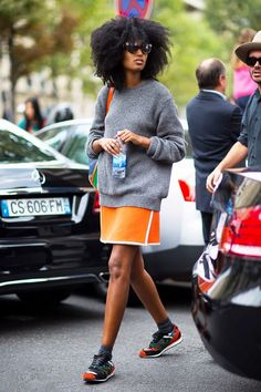 12 Ways To Style A Simple Sweater For Spring via @WhoWhatWear