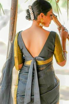 Latest Trending Silk Saree Blouse Designs - 2019 Update - - To make it easier for you, we have the top trending beautiful silk saree blouse designs so that you can choose the best for your saree look. Blouse Back Neck Designs, Stylish Blouse Design, Fancy Blouse Designs, Indian Blouse Designs, Choli Designs, Choli Blouse Design, Silk Saree Blouse Designs, Blouse Patterns, Kurti Patterns