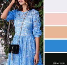 Clothing and colours combination. Color Combinations For Clothes, Color Combos, Fashion Colours, Colorful Fashion, Office Color Schemes, Color Balance, Colour Pallete, Coordinating Colors, Perfect Woman