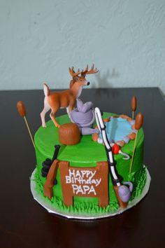 Fishing/hunting cake