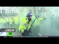 Scuffles at anti-austerity demonstration in London after Tory election win