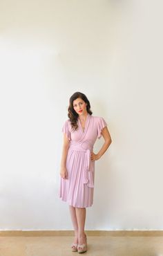 Jersey Dress Great as a Nursing Dress Breastfeeding by Lirola