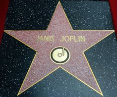 Janis Joplin was honored posthumously with the Star on the Hollywood Walk of Fame in the Category of Recording today. The star is at 6752 Hollywood Boulevard in front of Musician's Institute. Joplin died on October More Entertainment News Hollywood Star Walk, Hollywood Hotel, Janis Joplin, Rainha Do Rock, Acid Rock, Kris Kristofferson, Dream Music, Rock Of Ages, Rock Legends