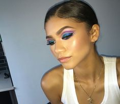 "Zendaya on Instagram: ""Alright sooooo I know ya'll have been asking (harassing) me about my makeup tutorials and I'm finally starting to work on them! But for one particular tutorial, I want one of YOU in it with me and recreate this bomb look I just created inspired by the Super Sizer Fibers Mascara packaging! So, I'm holding a contest w/ COVERGIRL to find you and here's how to enter: post an Instavid that's 30 seconds max of you in a makeup look inspired by COVERGIRL Super Sizer Fibers…"